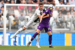 20.04.2019, Allianz Stadium, Turin, ITA, Serie A, Juventus Turin vs ACF Fiorentina, 33. Runde, im Bild Rugani Daniele (Juventus F.C.) // Rugani Daniele (Juventus F.C.); during the Seria A 33th round match between Juventus Turin and ACF Fiorentina at the Allianz Stadium in Turin, Italy on 2019/04/20. EXPA Pictures © 2019, PhotoCredit: EXPA/ laPresse/ Fabio Ferrari<br />