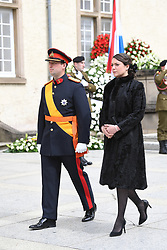 Princess Alexandra of Luxembourg and Prince Sébastien of Luxembourg at the funeral of Grand Duke Jean of Luxembourg at Cathedral Notre-Dame of Luxembourg in Luxembourg City, Luxembourg on May 4, 2019. Grand Duke Jean of Luxembourg has died at 98, April 23, 2019. Photo by David Niviere/ABACAPRESS.COM