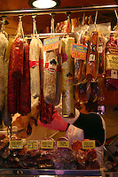 Display of meat in spanish food market<br />