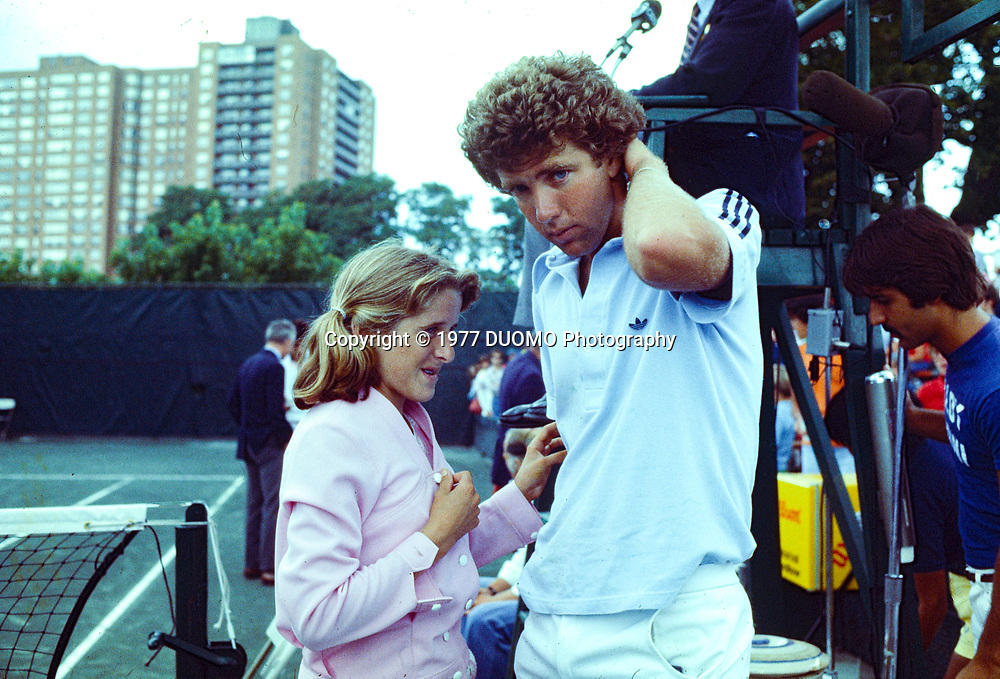 Tracy Austin (USA) with brother John at the 1977 US Open Tennis Championships
