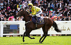 Second Generation ridden by Jockey Paul Mulrennan goes to post for the Queen Mary Stakes