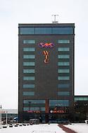 New World Trade Center in Leeuwarden in the winter. <br /> Nieuw World Trade Center (WTC) in Leeuwarden in de winter.
