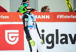 Spela Rogelj of Slovenia reacts during 2nd Round at Day 1 of World Cup Ski Jumping Ladies Ljubno 2019, on February 8, 2019 in Ljubno ob Savinji, Slovenia. Photo by Matic Ritonja / Sportida