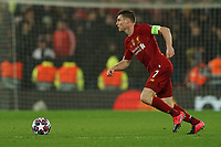 Football - 2019 / 2020 UEFA Champions League - Round of Sixteen, Second Leg: Liverpool (0) vs. Atletico Madrid (1)<br /> <br /> Liverpool's James Milner  in action during todays match  , at Anfield.<br /> <br /> <br /> COLORSPORT/TERRY DONNELLY