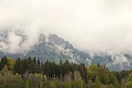 Mountains shrouded in low cloud near the border with Slovenia. Alpe Adria Trail, Carinthia, Austria © Rudolf Abraham