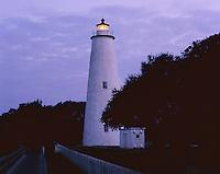AA05859-01...NORTH CAROLINA - Ocracoke Lighthouse on Ocracoke Island, part of the Outer Banks.
