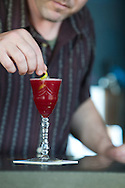 """Beaker and Flask, a restaurant and bar in SE Portland, Oregon, serves up specialty cocktails.  The cocktail called """"Daddy Issues"""""""