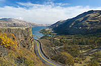 Historic Columbia River Highway from Rowena Crest, Columbia River Gorge National Scenic Area Oregon