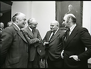 20/12/1978.12/20/1978.20th December 1978.Pictured from left to right Mr Douglas Hicks, ICL (Ireland); Mr Frank Peard, Deputy Managing Director, Guinness Ireland Ltd; Mr Arthur Humphreys, Director, ICL and Mr John Daly, Chief Executive, ICL (Ireland) chatting prior to the signing ceremony in St James's Gate Brewery.