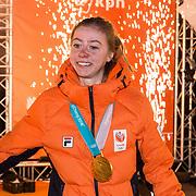 NLD/Amsterdam/20180226 - Thuiskomst TeamNL, Esmee Visser
