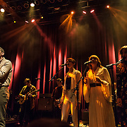 WASHINGTON, DC - January 24th, 2014 -  Fleet Foxes' Robin Pecknold (left) performs at the 9:30 Club in Washington, D.C. with members of Beach House, The Walkmen, Wye Oak, Grizzly Bear and other bands during a tribute to Gene Clark's seminal 1974 album, No Other.  (Photo by Kyle Gustafson /  For The Washington Post)