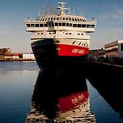 Three weeks aboard the Kong Harald. Hurtigruten, the Coastal Express. Svolvaer in the Lofotens, Vagan, in Nordland.