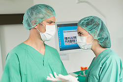 Doctors discussing operation