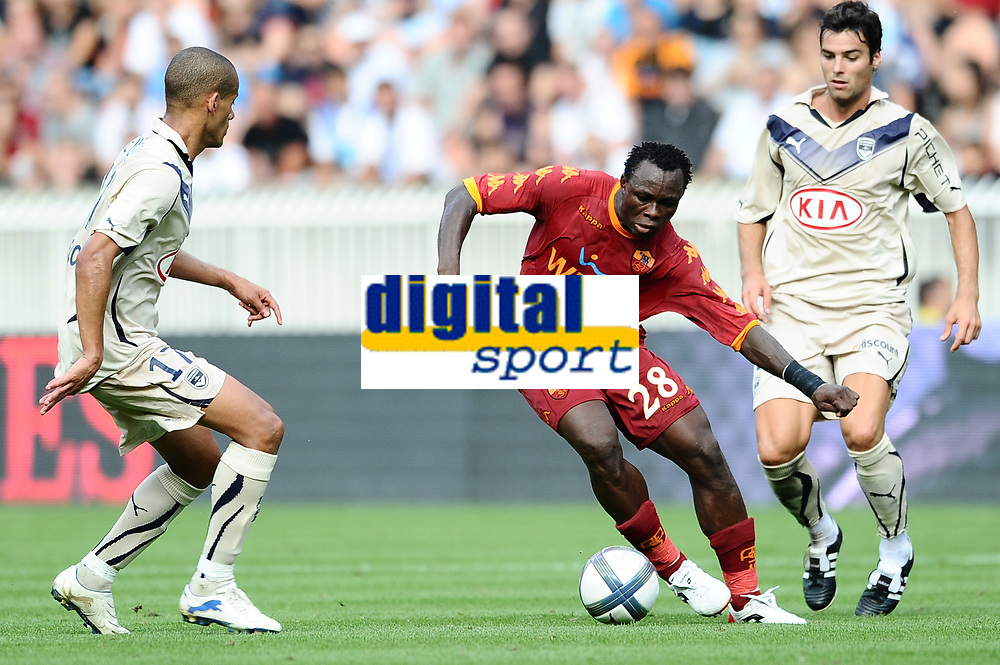 FOOTBALL - TOUNOI DE PARIS 2010 - AS ROMA v GIRONDINS BORDEAUX - 31/07/2010 - PHOTO GUY JEFFROY / DPPI - AHMED BARUSSO (ROMA)