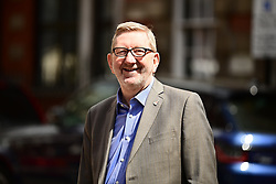 """© Licensed to London News Pictures. 07/05/2021. London, UK. Unite Union leader LEN MCCLUSKEY is seen in Westminster the morning after elections in England, Scotland and Wales. """"Super Thursday"""" saw council and Mayoral elections in England as well as votes in the National Assemblies of Holyrood in Scotland and Senedd in Wales. Photo credit: Ben Cawthra/LNP"""
