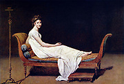 Jacques-Louis David. Portrait of Madame Recamier 1800