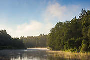 Fog boils over river Gauja after cold night, Gauja National Park (Gaujas Nacionālais parks), Latvia Ⓒ Davis Ulands | davisulands.com