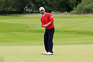 Emilio Cuartero Blanco (ESP) on the 2nd green during Round 3 of the Northern Ireland Open in Association with Sphere Global & Ulster Bank at Galgorm Castle Golf Club on Saturday 8th August 2015.<br /> Picture:  Thos Caffrey / www.golffile.ie