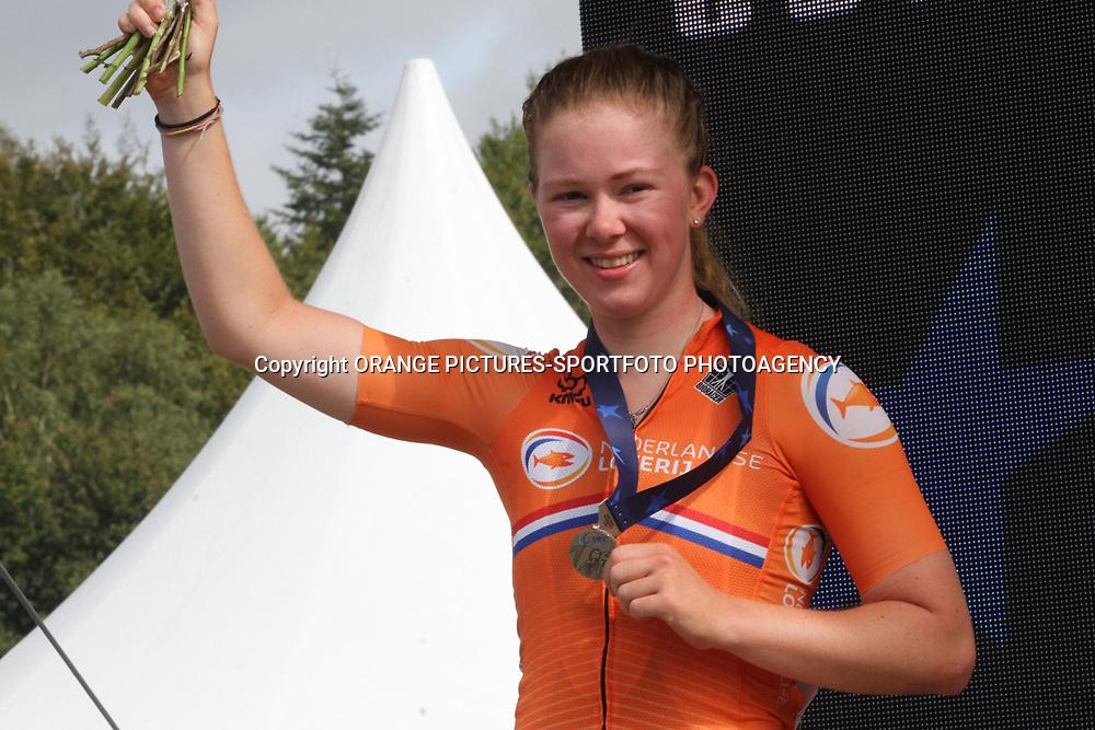 26-08-2020: Wielrennen: EK wielrennen: Plouay<br /> Lonneke Uneken (Netherlands )26-08-2020: Wielrennen: EK wielrennen: Plouay