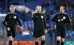 Match referee Martin Atkinson (centre) and assistant referees Stephen Child (right) and Peter Kirkup (left)