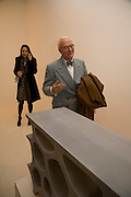 CHARLOTTE STOCKDALE AND MANOLO BLAHNIK, Exhibition of work by Marc Newson at the Gagosian Gallery, Davies st. London. afterwards at Mr. Chow, Knightsbridge. 5 March 2008.  *** Local Caption *** -DO NOT ARCHIVE-© Copyright Photograph by Dafydd Jones. 248 Clapham Rd. London SW9 0PZ. Tel 0207 820 0771. www.dafjones.com.