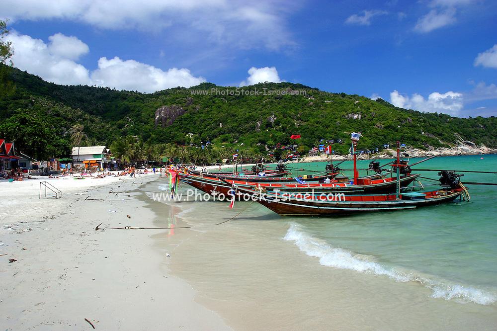 long tailed boat Koh Phangan Thailand