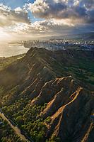 Diamond Head Crater & City of Honolulu