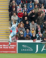 Photo: Kevin Poolman.<br />Coventry City v Sheffield United. Coca Cola Championship. 11/03/2006. <br />Gary McSheffrey celebrates his goal and Coventry's first.