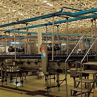 South America, Chile, Santiago. Factory Bottling Plant at Santa Rita Winery.
