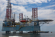 PDVSA Oil Platform GP 19 in Lake Maracaibo, Venezuela.  (Oswaldo Guterez is featured in the book What I Eat: Around the World in 80 Diets.)  Oswaldo Gutierrez, Chief of the PDVSA Oil Platform GP 19 in Lake Maracaibo, Venezuela, works on the platform for seven days then is off at home for seven days.