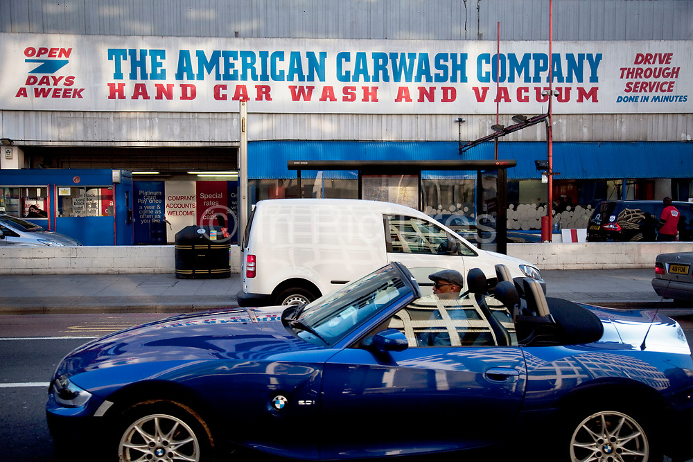 The American Carwash Company on Great Eastern Street, a hand car wash drive through.
