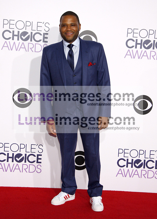 Anthony Anderson at the 41st Annual People's Choice Awards held at the Nokia L.A. Live Theatre in Los Angeles on January 7, 2015. Credit: Lumeimages.com