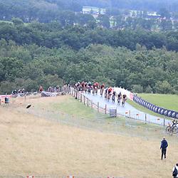 22-08-2020: Wielrennen: NK vrouwen: Drijber<br /> Peloton op de VAMberg