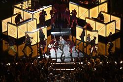 February 4, 2018 - Minneapolis, MN, USA - Justin Timberlake performs during the Super Bowl halftime show Sunday, Feb. 4, 2018 in Minneapolis, Minn. (Credit Image: © Aaron Lavinsky/TNS via ZUMA Wire)