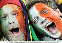 22 June 2013; British & Irish Lions supporters Conor Byrne, from Glanmire, Cork, left, and Harman Murtagh, from Athlone, Co. Westmeath, at the game. British & Irish Lions Tour 2013, 1st Test, Australia v British & Irish Lions, Suncorp Stadium, Brisbane, Queensland, Australia. Picture credit: Stephen McCarthy / SPORTSFILE