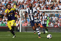 West Bromwich Albion's Nicolas Anelka in action <br />  (Photo by Kieran Galvin/CameraSport) <br /> <br /> Football - Barclays Premiership - West Bromwich Albion v Swansea City - Sunday 1st September 2013 - The Hawthorns - West Midlands<br /> <br /> © CameraSport - 43 Linden Ave. Countesthorpe. Leicester. England. LE8 5PG - Tel: +44 (0) 116 277 4147 - admin@camerasport.com - www.camerasport.com