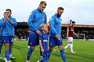 *** during the EFL Carabao Cup 2nd round match between AFC Wimbledon and West Ham United at the Cherry Red Records Stadium, Kingston, England on 28 August 2018.