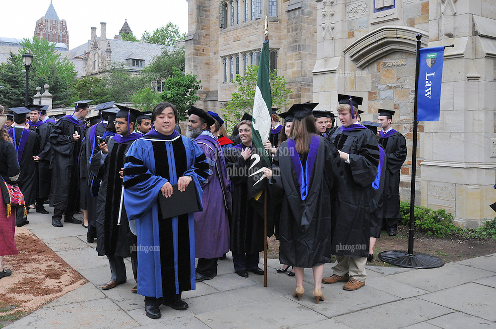 Yale Law Dean Harold Koh, Yale University Commencement 2009, Congregration and Activities before the Ceremony on Cross Campus