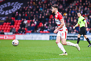 Ben Whiteman of Doncaster Rovers (8) in action during the The FA Cup fourth round match between Doncaster Rovers and Oldham Athletic at the Keepmoat Stadium, Doncaster, England on 26 January 2019.