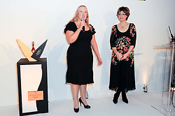 Left to right, GILL RILEY and KATE SILVERTON at the presentation of the Veuve Clicquot Business Woman Award 2010 held at the Institute of Contemporary Arts, 12 Carlton House Terrace, London on 23rd March 2010.  The winner was Laura Tenison - Founder and Managing Director of JoJo Maman Bebe.