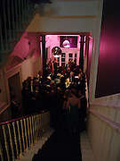 Staircase, Hot Ice party hosted by Dominique Heriard Dubreuil and Theo Fennell, ( Remy Martin and theo Fennell) at 35 Belgrave Sq. London W1. 26 October 2004. ONE TIME USE ONLY - DO NOT ARCHIVE  © Copyright Photograph by Dafydd Jones 66 Stockwell Park Rd. London SW9 0DA Tel 020 7733 0108 www.dafjones.com