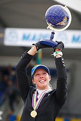 Podium 7 years <br /> 1. Gudrun Patteet (BEL)<br /> FEI World Breeding Jumping Championship - Lanaken 2013<br /> © Dirk Caremans