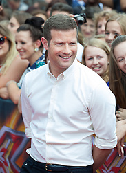 Image ©Licensed to i-Images Picture Agency. 01/08/2014. London, . RED CARPET ARRIVALS AT THE X FACTOR 2014. Dermot O'Leary arrives at the X-Factor auditions at Wembley Arena. Picture by Daniel Leal-Olivas / i-Images