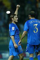 PARMA, 13-10-04<br />Qualificazioni Mondiali<br />Italia Bielorussia<br />nella  foto Totti esulta dopo il gol del 3-1<br />Foto Snapshot / Graffiti