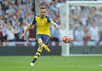 Arsenal's Aaron Ramsey in action during todays match  <br /> <br /> Photographer Ashley Crowden/CameraSport<br /> <br /> Football - The FA Cup Final - Aston Villa v Arsenal - Saturday 30th May 2015 - Wembley - London<br /> <br /> © CameraSport - 43 Linden Ave. Countesthorpe. Leicester. England. LE8 5PG - Tel: +44 (0) 116 277 4147 - admin@camerasport.com - www.camerasport.com