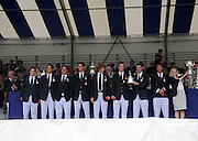 Henley, Great Britain.  Henley Royal Regatta. Winners of the Temple Challenge Cup, University of California, Berkeley, USA, with the Trophy. River Thames,  Henley Reach.  Royal Regatta. River Thames Henley Reach. Sunday  16:46:19  03/07/2011  [Mandatory Credit/Intersport Images] . HRR