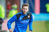 Notts County midfielder Jorge Grant (10) warming up before the EFL Sky Bet League 2 match between Chesterfield and Notts County at the Proact stadium, Chesterfield, England on 25 March 2018. Picture by Nigel Cole.