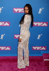 August 20, 2018 - New York City, New York, U.S. - Model SHANINA SHAIK attends the arrivals for the 2018 MTV 'VMAS' held at Radio City Music Hall. (Credit Image: © Nancy Kaszerman via ZUMA Wire)