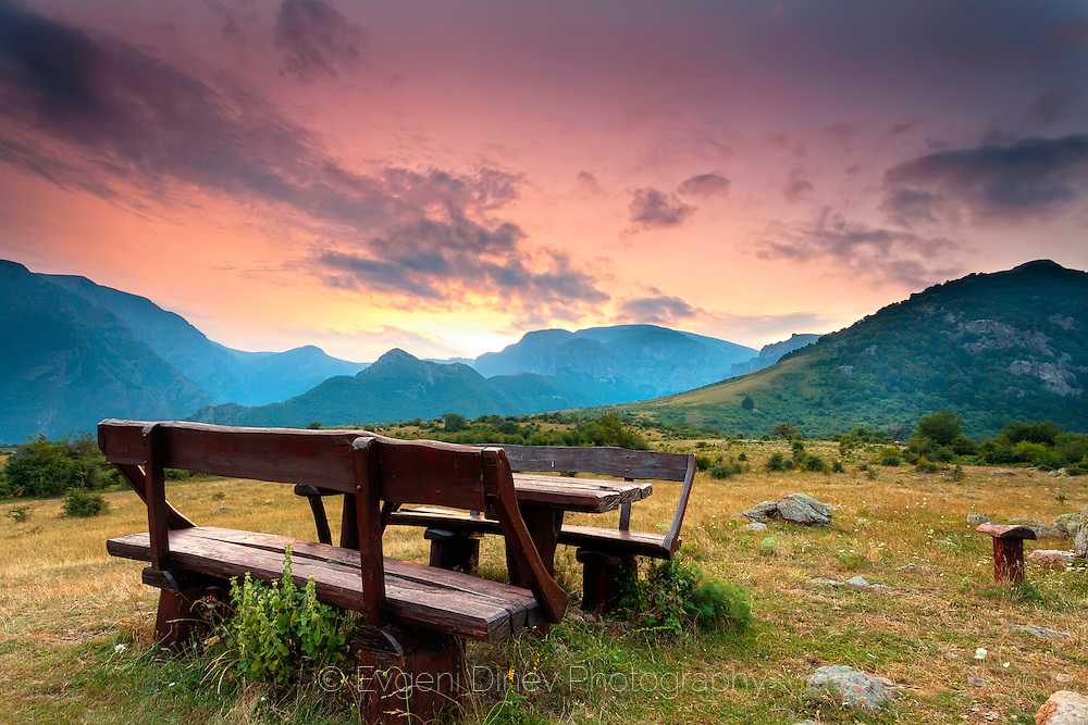 A place for rest in the mountain