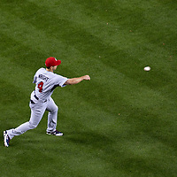 22 March 2009: #4 David Wright of USA throws the ball to first base during the 2009 World Baseball Classic semifinal game at Dodger Stadium in Los Angeles, California, USA. Japan wins 9-4 over Team USA.
